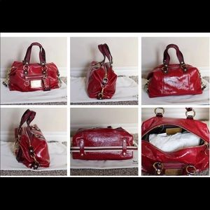 Coach poppy candy red purse Limited Satchel NWT